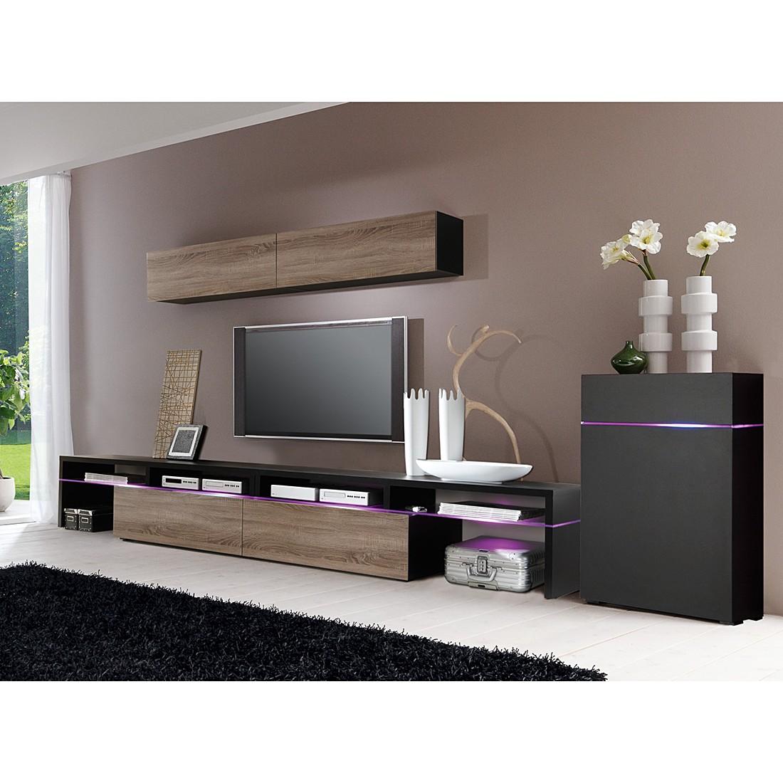 kommode compleo iv tr ffel dekor grauspiegelglas cs schmal bestellen. Black Bedroom Furniture Sets. Home Design Ideas