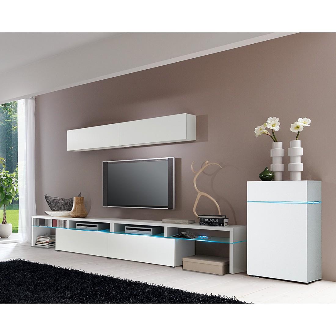 wohnwand colourart 5 teilig eiche sonoma tr ffel dekor lava ohne beleuchtung cs schmal. Black Bedroom Furniture Sets. Home Design Ideas