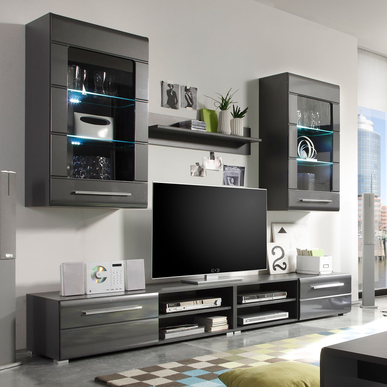 grau hochglanz wohnwand preis vergleich 2016. Black Bedroom Furniture Sets. Home Design Ideas