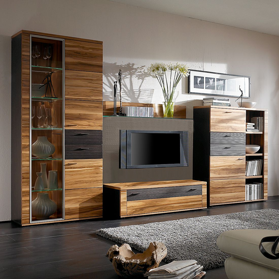 wohnwnde massivholz gnstig best mbel boer coesfeld rume wohnzimmer schrnke wohnwnde wildeiche. Black Bedroom Furniture Sets. Home Design Ideas