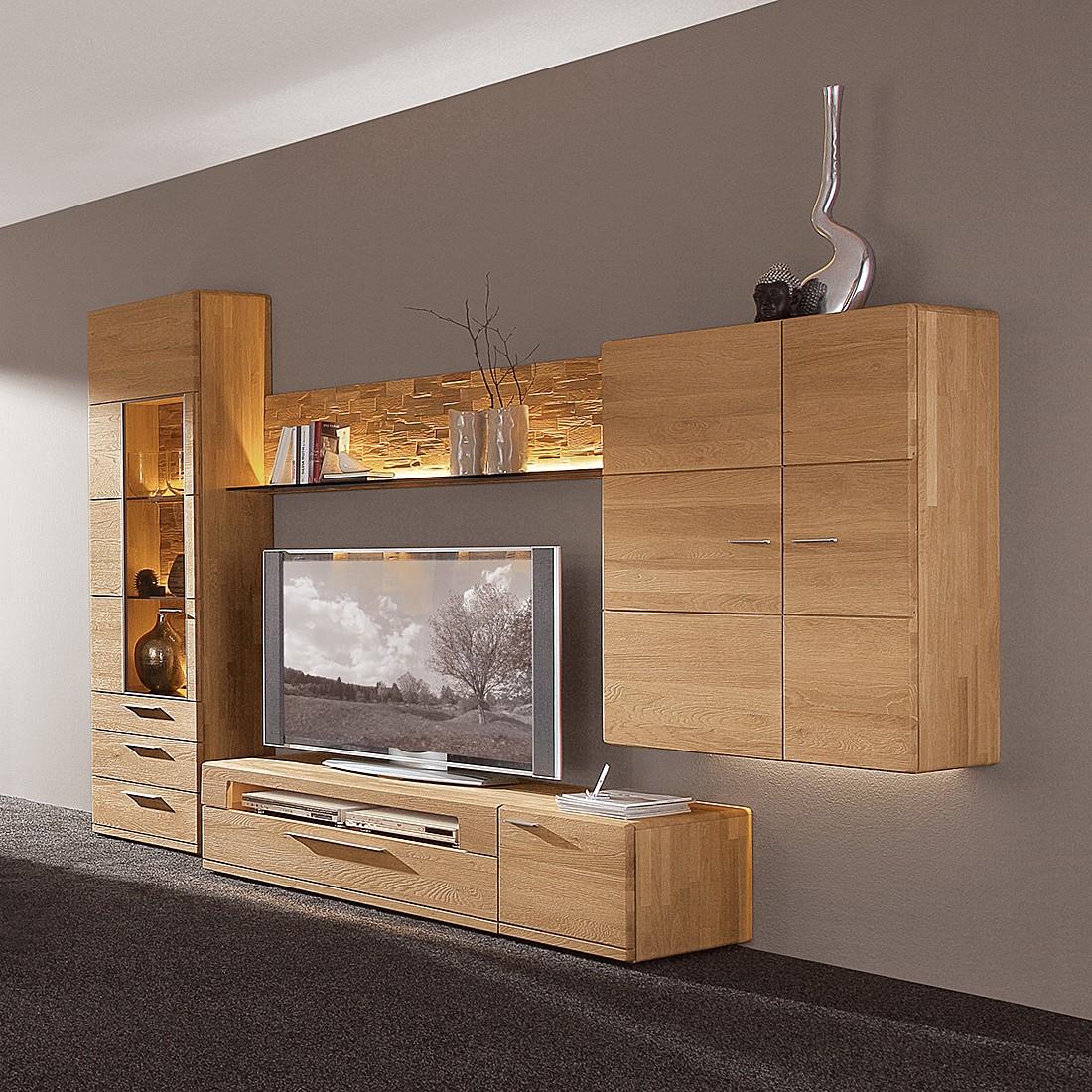 wohnwand massiv wildeiche sonstige preisvergleiche. Black Bedroom Furniture Sets. Home Design Ideas