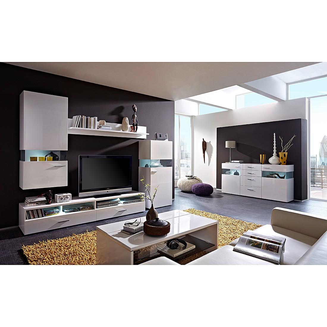 wohnw nde hochglanz grau g nstig kaufen. Black Bedroom Furniture Sets. Home Design Ideas