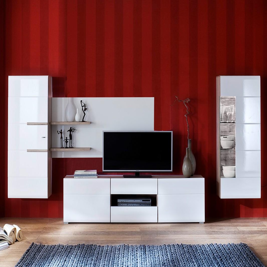 Meuble tv san francisco laque blanc brillant - Meuble meilleur prix ...