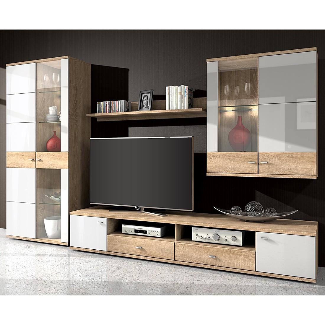 eek a wohnwand winnipeg 4 teilig inklusive beleuchtung. Black Bedroom Furniture Sets. Home Design Ideas