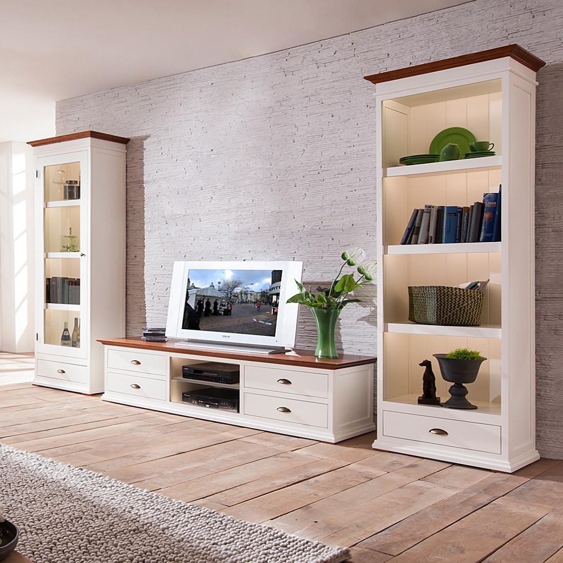 wohnwand vivienne fichte massiv altwei mit. Black Bedroom Furniture Sets. Home Design Ideas