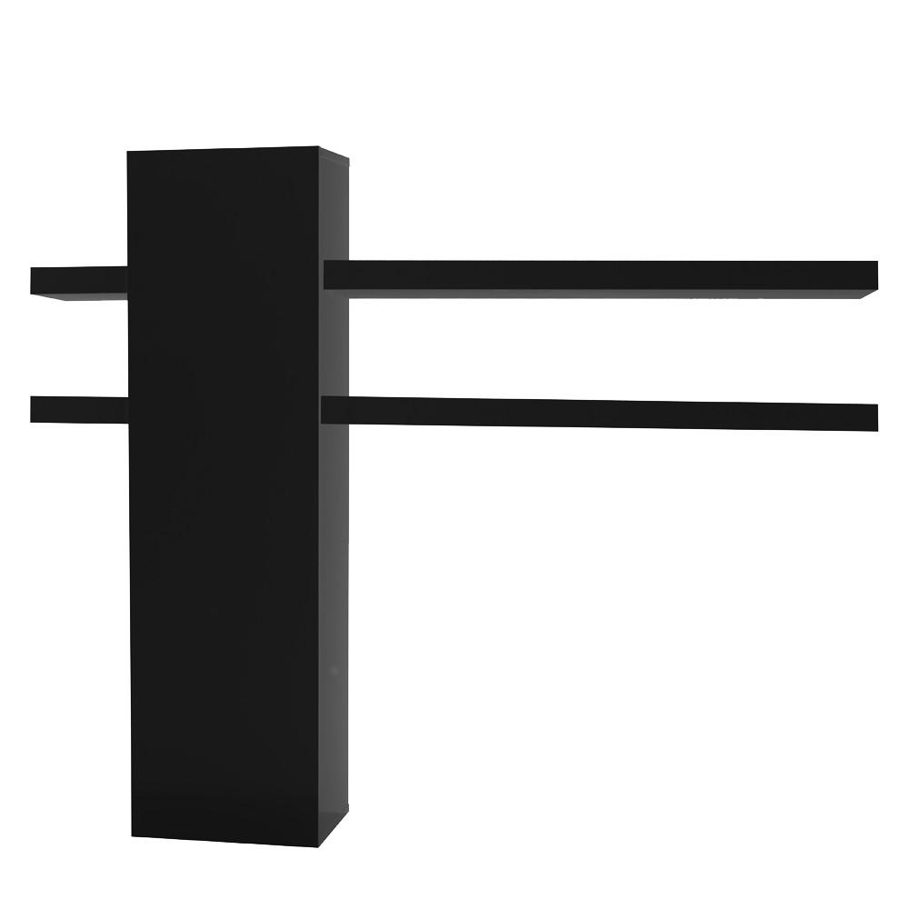 wohnzimmer h ngeschrank menton schwarz mit vier regalen. Black Bedroom Furniture Sets. Home Design Ideas