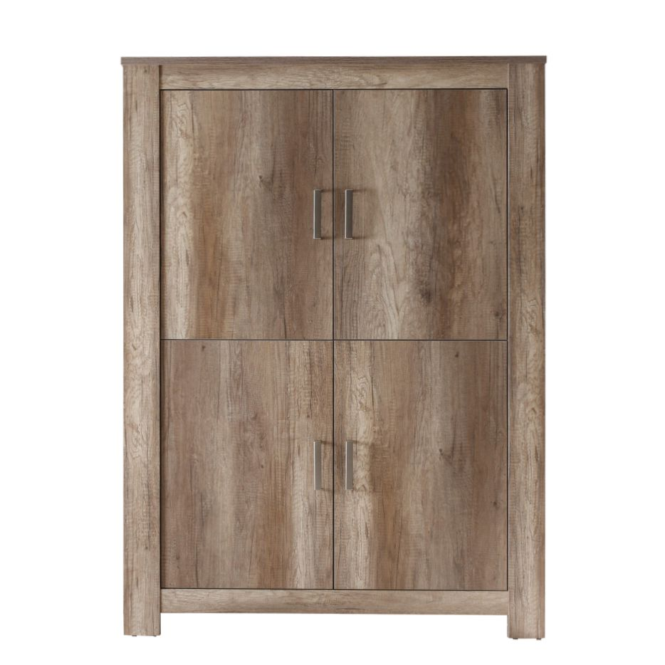 wohnzimmerschrank salomon eiche antik dekor 4 t rig. Black Bedroom Furniture Sets. Home Design Ideas