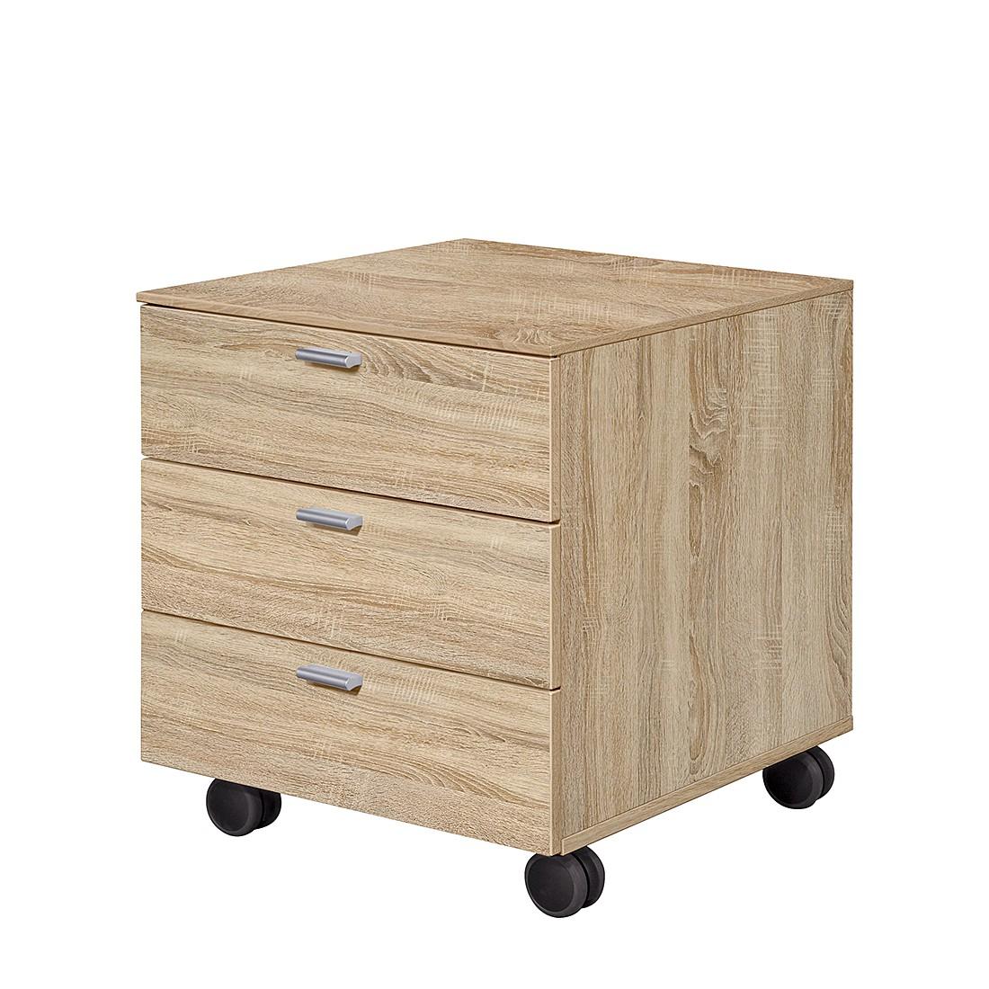 work rollcontainer 3 schubladen eiche dekor schrank. Black Bedroom Furniture Sets. Home Design Ideas