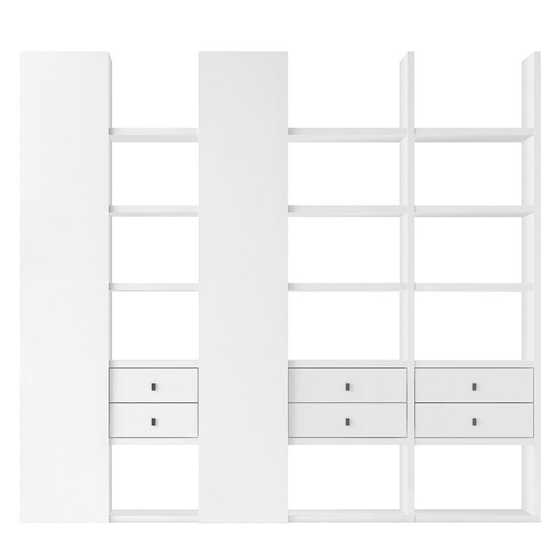 XL Regalwand Emporior V - Weiß (Matt Weiß)