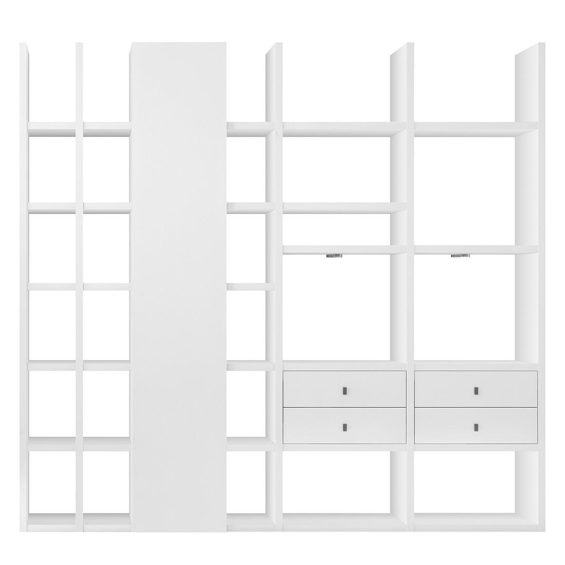 XL Regalwand Emporior VI – Hochglanz Weiß Mit Beleuchtung, loftscape jetzt bestellen
