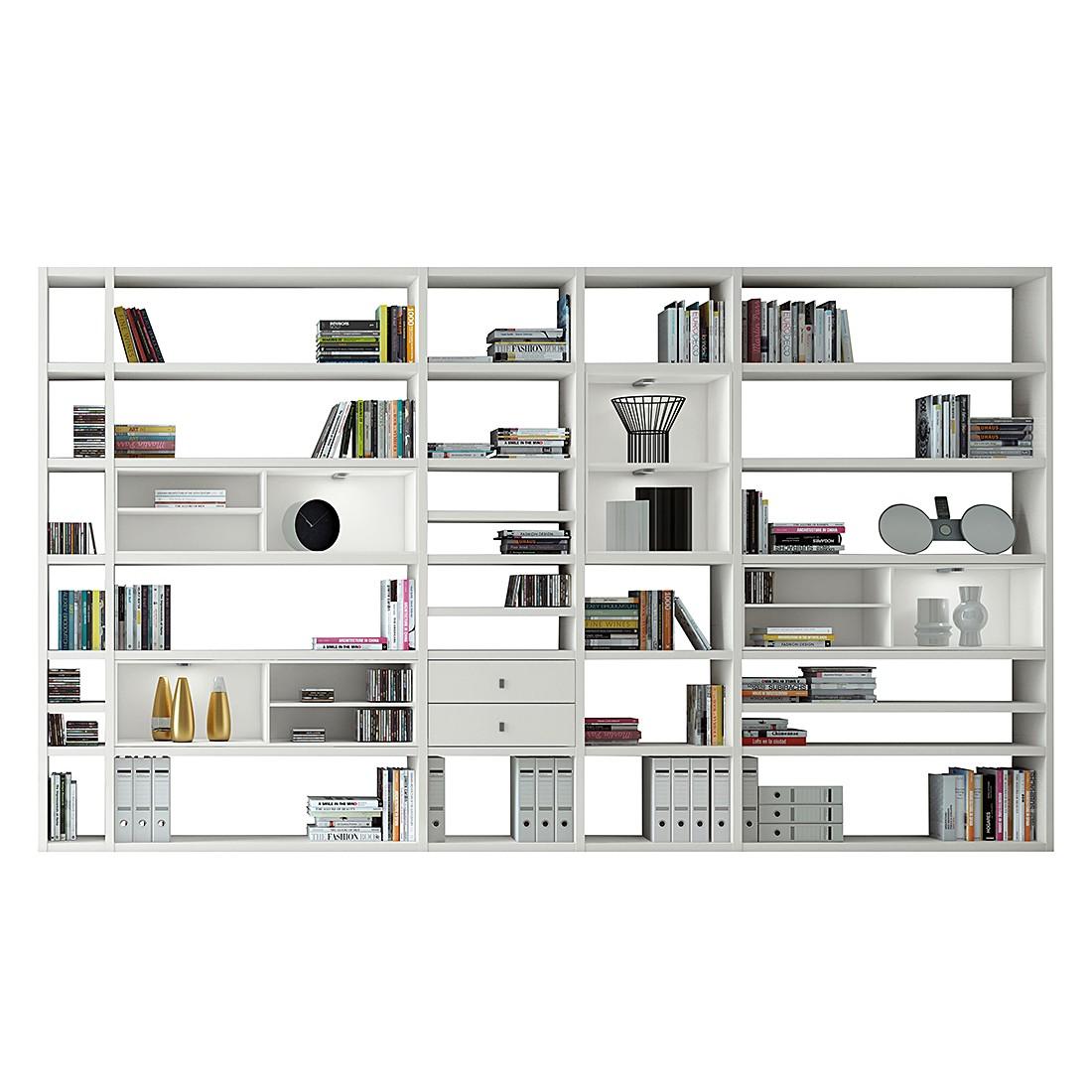 XXL Regalwand Emporior II – Hochglanz Weiß Mit Beleuchtung, loftscape günstig kaufen