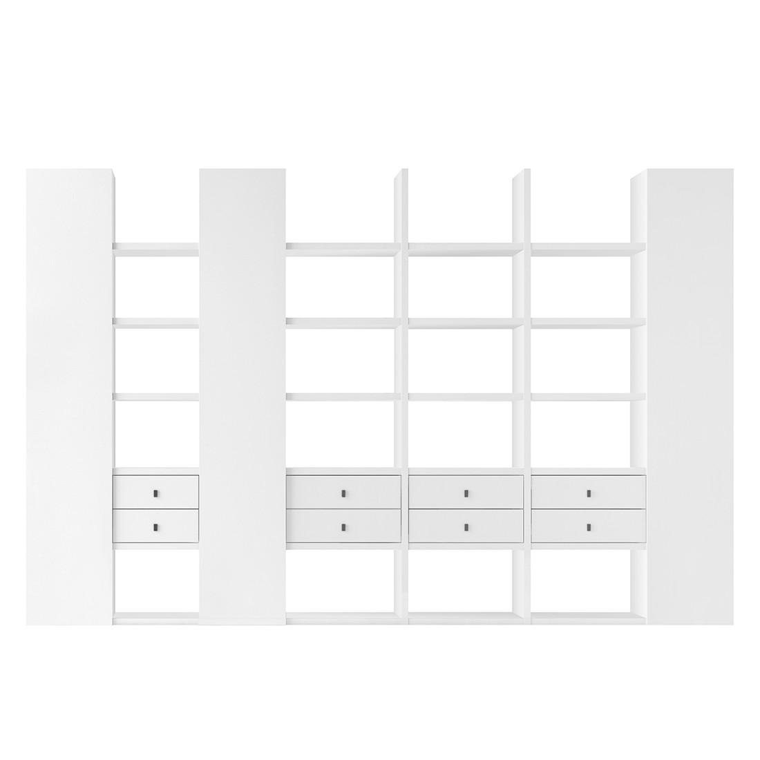 XXL Regalwand Emporior V.B – Weiß (Hochglanz Weiß)