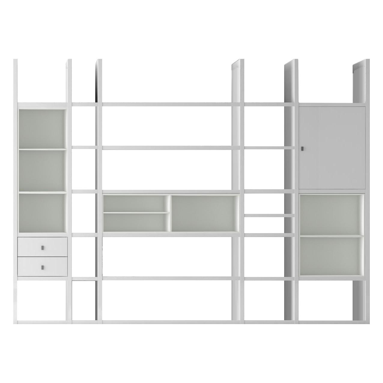 XXL Regalwand Emporior VI - Ohne Beleuchtung - Weiß, loftscape