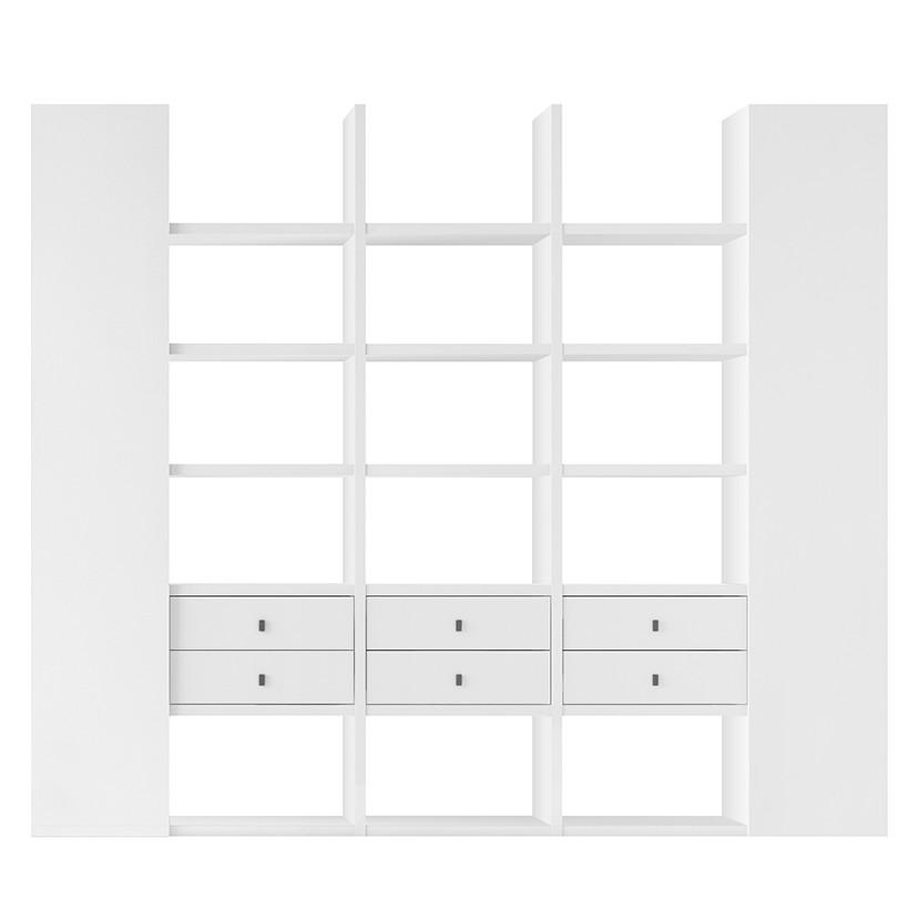 XXL Regalwand Emporior VIII – Weiß (Hochglanz Weiß)