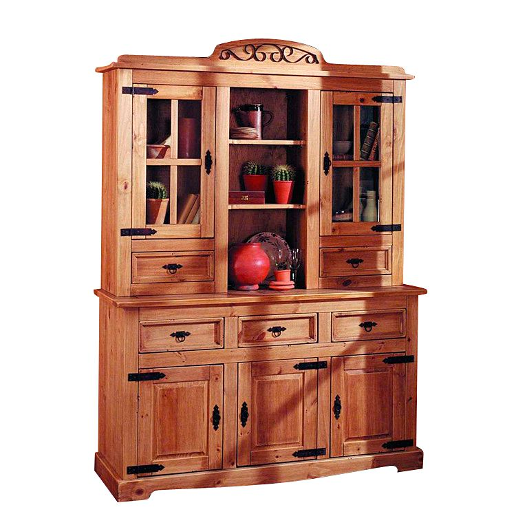 Buffetschrank Zacateca - Kiefer massiv - Antik