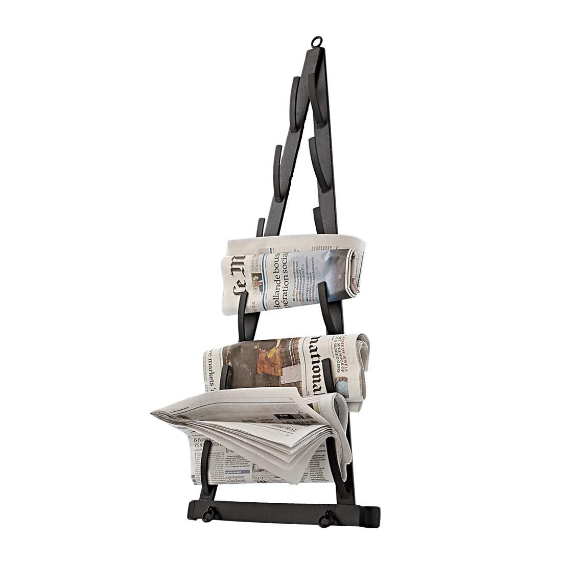 Zeitungshalter Polan – Eisen schwarz, Loberon online kaufen