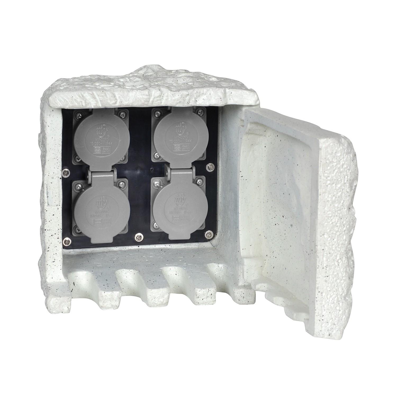 Zubehör Außen-Steckdosenstein ● Grau Kunststoff- Näve