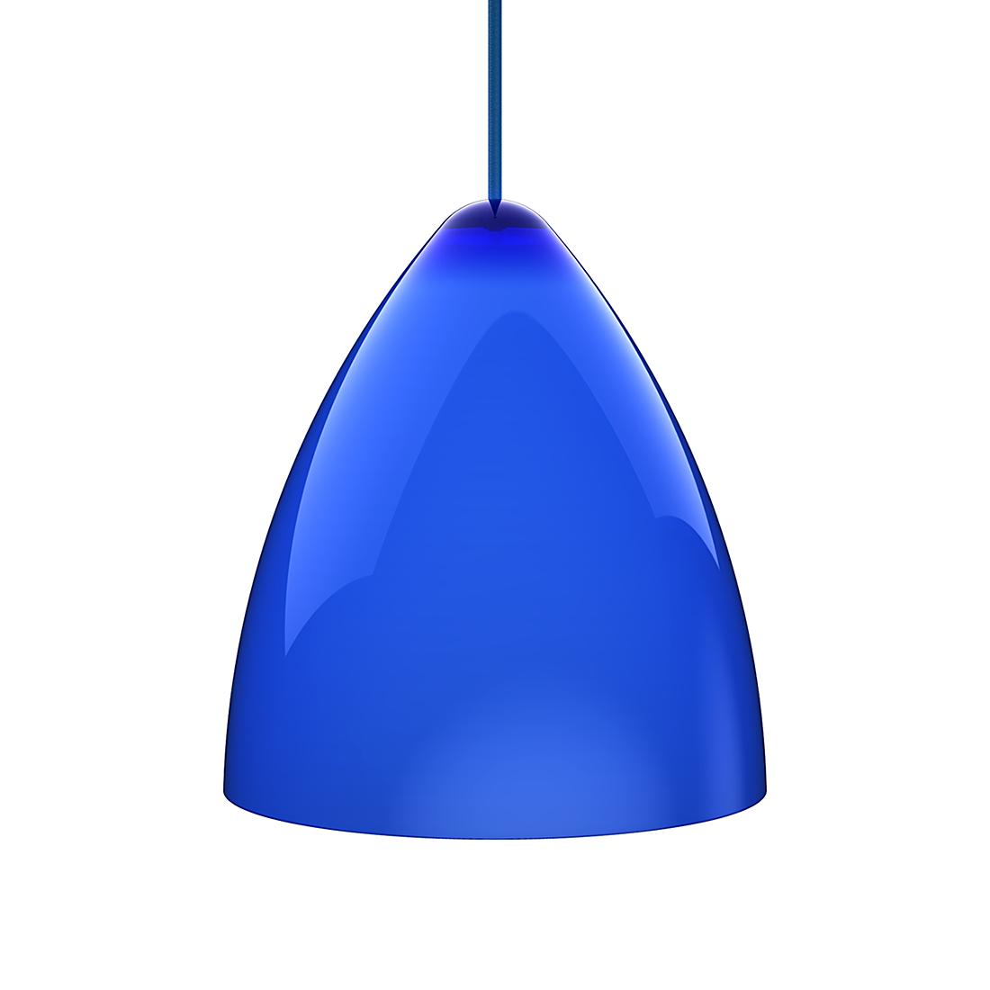 Nordlux Hanglamp Funk - plexiglas/textiel - blauw/blauw (Diameter 27cm) Home24