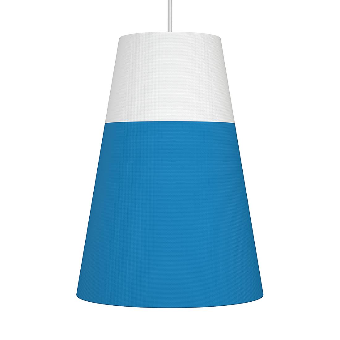 Nordlux Hanglamp Respect - textiel, metaal - lichtblauw, mat zilverkleurig (Diameter: 22/12cm) Home24