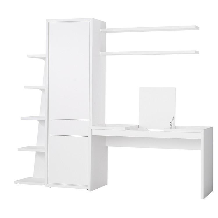 b ro quadra 5er set schreibtisch schrank standregal. Black Bedroom Furniture Sets. Home Design Ideas