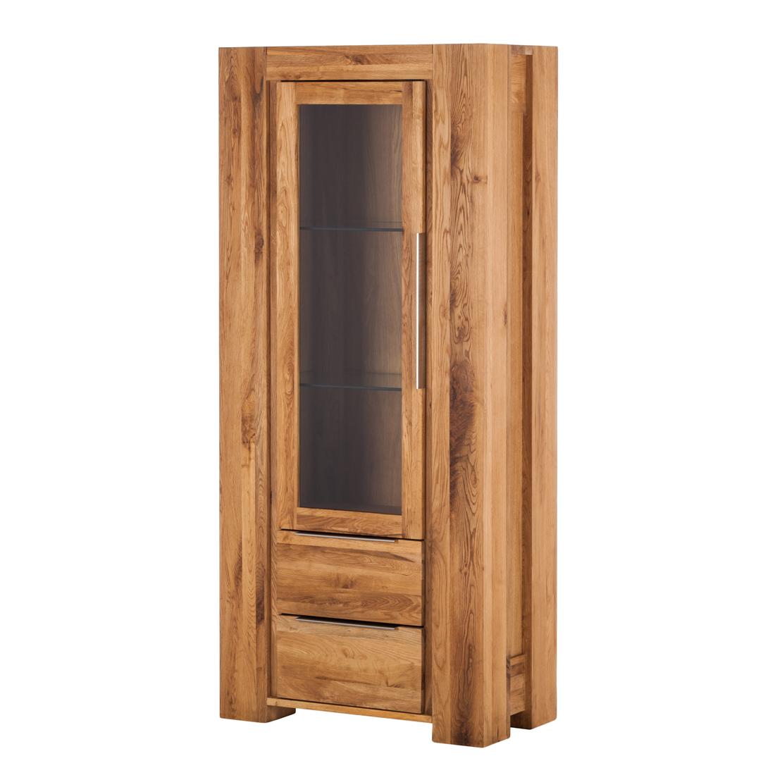 HOLTA Massivmöbel Vitrine Tomano - 1-deurs - massief eikenhout, geolied Home24