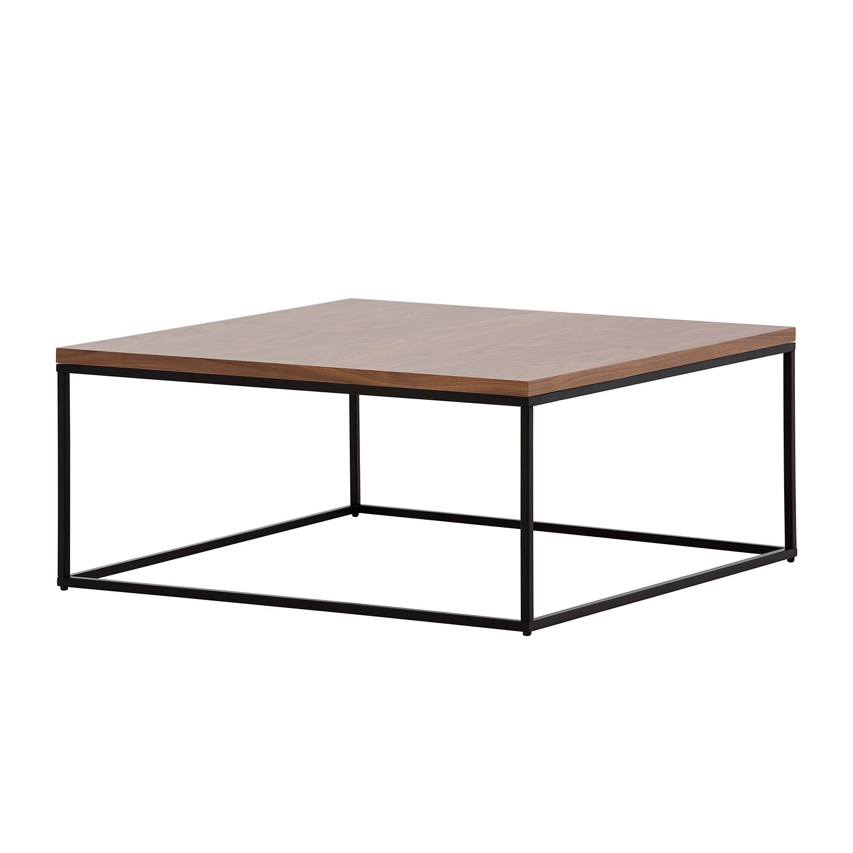 Table basse Lando II - Bois de noyer / Noir - 91,5 x 91,5 cm,