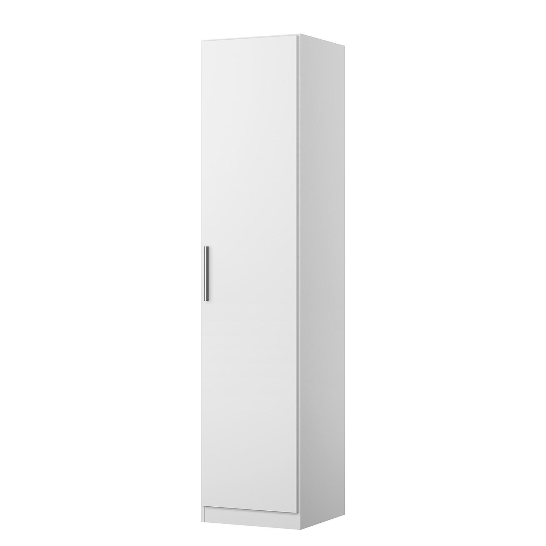 Armoire à portes battantes KiYDOO V - Blanc alpin - 47 cm (1 portes) - 197 cm - Basic,
