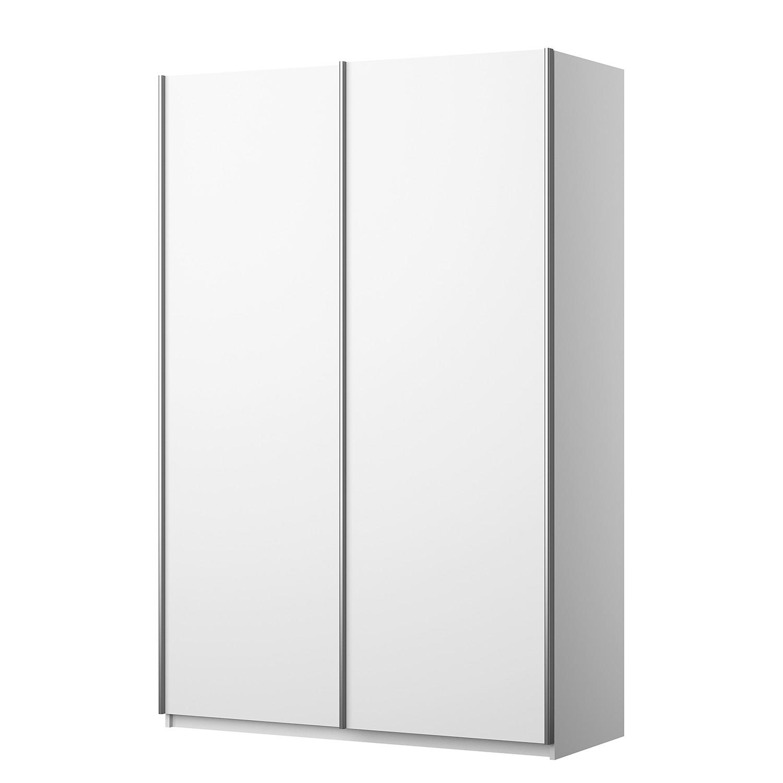 Armoire à portes coulissantes KiYDOO I - Blanc alpin - 136 cm (2 portes) - 210 cm - Basic,