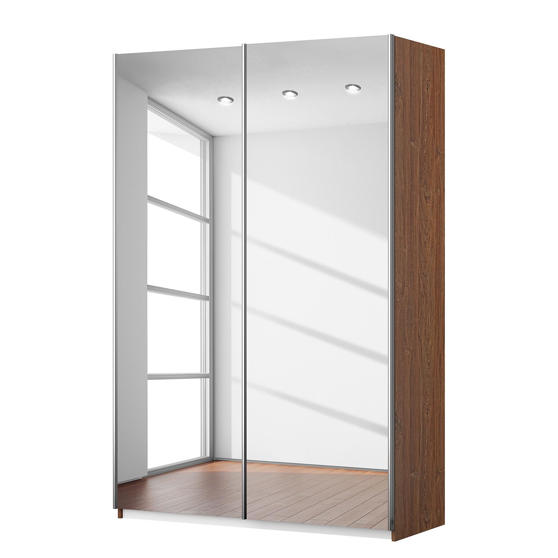 Armoire à portes coulissantes KiYDOO VII - Imitation chêne de Stirling - 136 cm (2 portes) - 197 cm