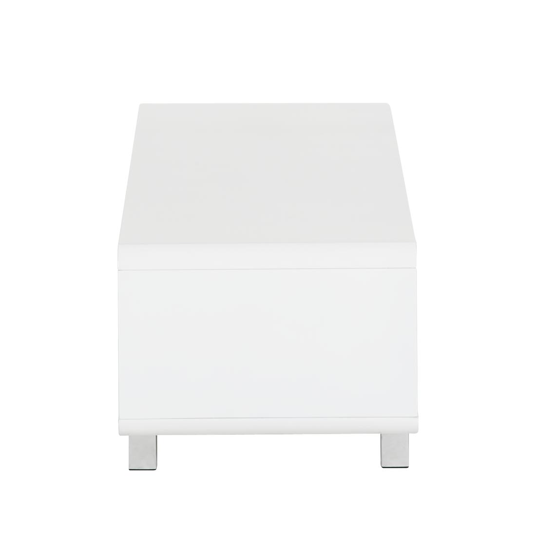 couchtisch wei hochglanz beistelltisch wohnzimmertisch retro tv tisch lowboard ebay. Black Bedroom Furniture Sets. Home Design Ideas