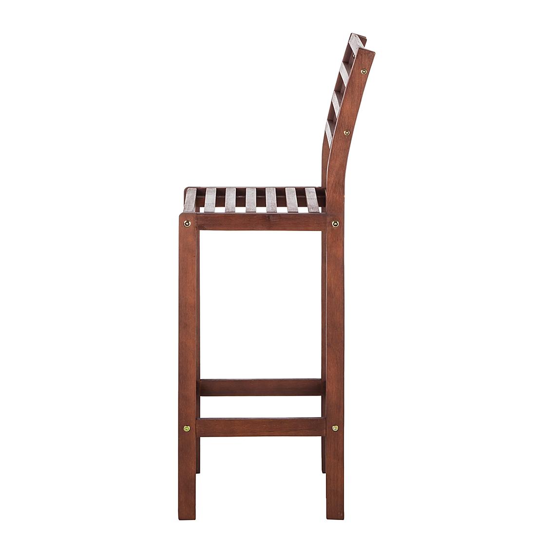 2er set barstuhl eukalyptus holz gartenst hle barhocker garten bar st hle neu ebay. Black Bedroom Furniture Sets. Home Design Ideas