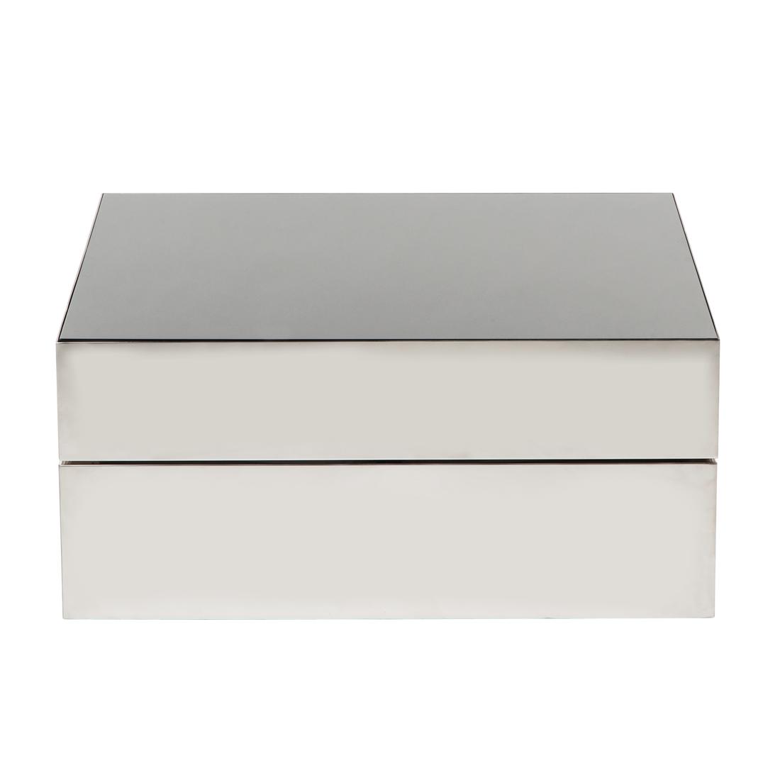 couchtisch quadratisch silber schwarz hochglanz beistelltisch wohnzimmertisch ebay. Black Bedroom Furniture Sets. Home Design Ideas
