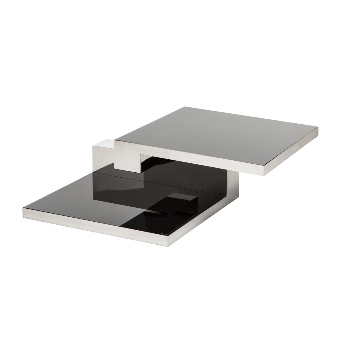 Couchtisch quadratisch silber schwarz hochglanz for Couchtisch schwarz hochglanz
