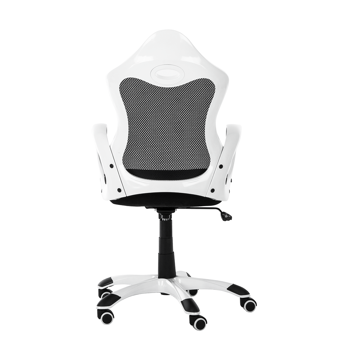 Schreibtischstuhl schwarz weiß  Bürostuhl Netzstoff Schwarz / Weiß Schreibtischstuhl Drehstuhl ...