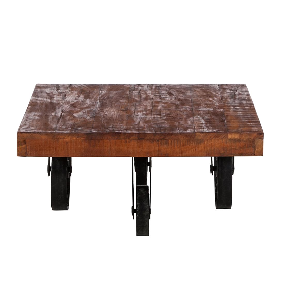 Beistelltisch couchtisch 90x70cm old wood eisen for Holztisch klein
