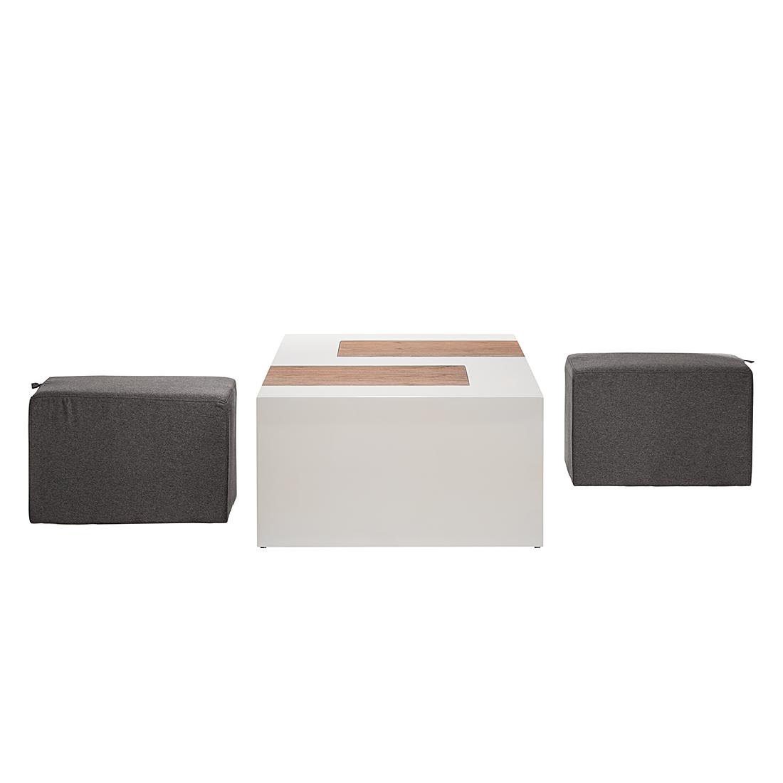 Couchtisch 2 hocker set beistelltisch wohnzimmer couch for Wohnzimmertisch ebay