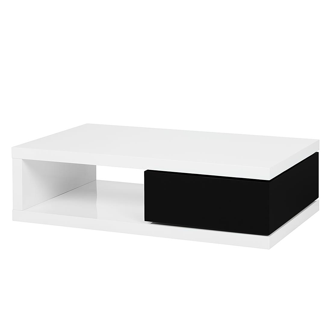 couchtisch schublade wei schwarz hochglanz wohnzimmer. Black Bedroom Furniture Sets. Home Design Ideas