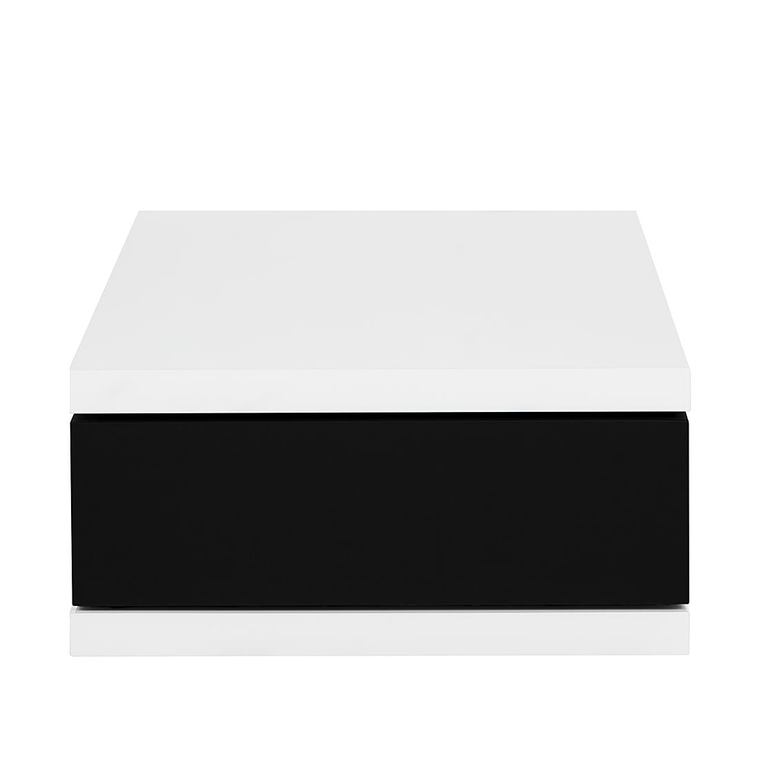 couchtisch schublade wei schwarz hochglanz wohnzimmer lounge couch tisch neu. Black Bedroom Furniture Sets. Home Design Ideas