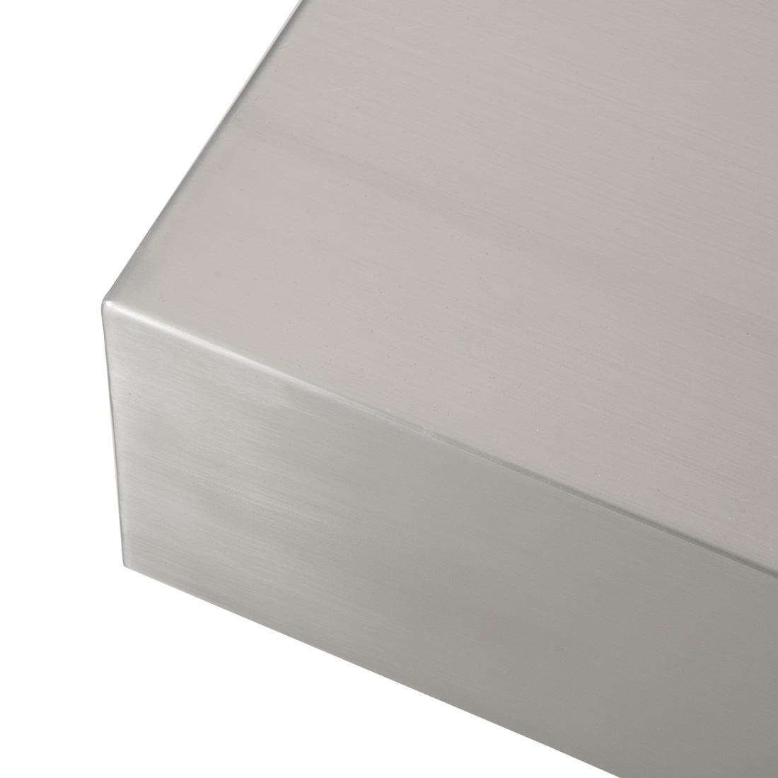 Couchtisch edelstahl 110x110cm beistelltisch wohnzimmer for Design tisch couchtisch edelstahl