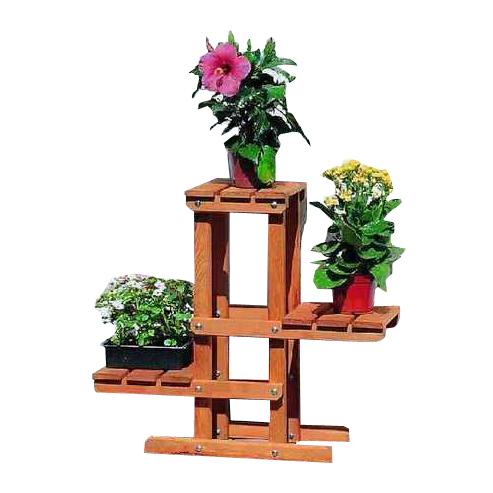 blumenpodest pflanztreppe blumensaeule wohnzimmer terrasse braun holz kiefer - Podest Fr Wohnzimmer