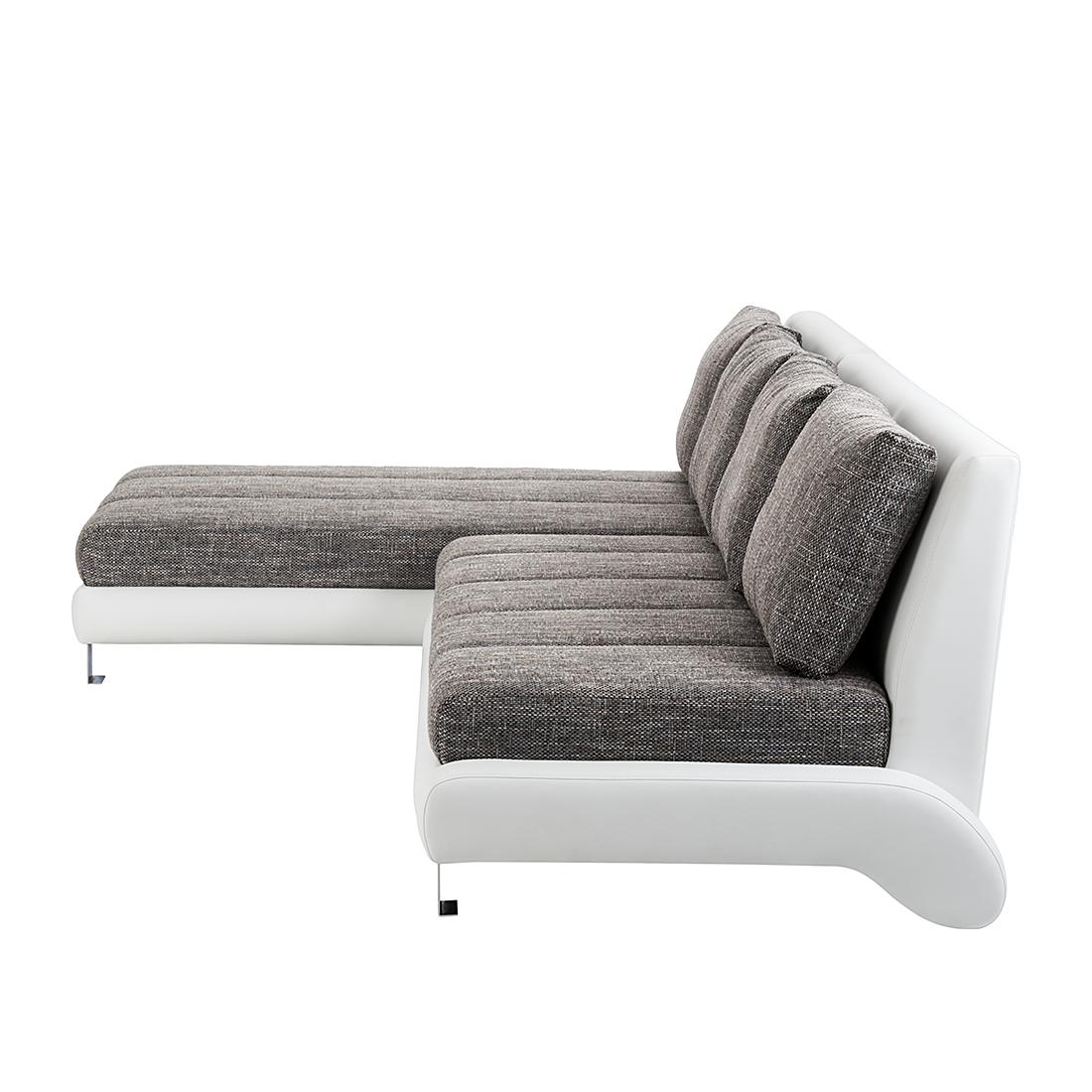 ecksofa stoff grau wei beige 3 sitzer sofa couch eckcouch polsterecke neu ebay. Black Bedroom Furniture Sets. Home Design Ideas