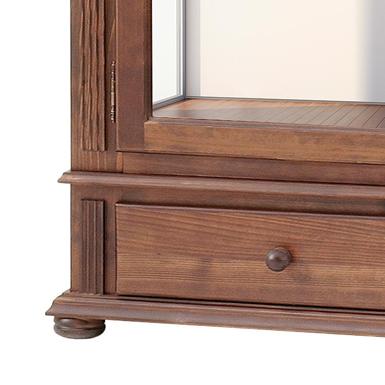 dielenschrank kolonial mit spiegelt r schrank kleiderschrank diele landhaus flur ebay. Black Bedroom Furniture Sets. Home Design Ideas