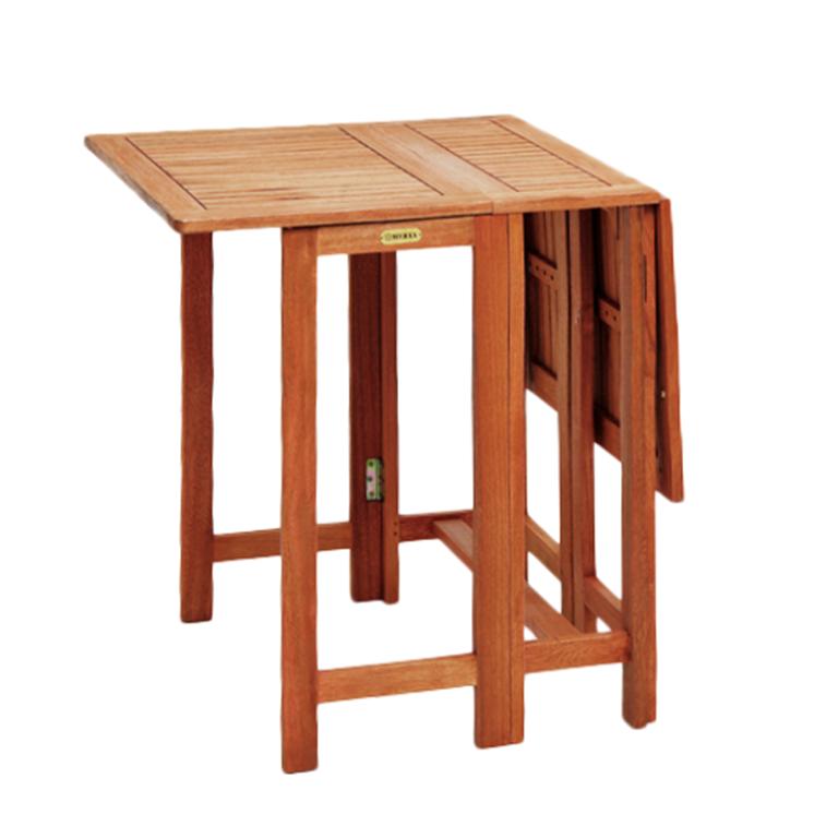 Gartentisch Doppel Klapptisch 107 65cm Eukalyptus Holz Garten Balkon Tisch  NEU