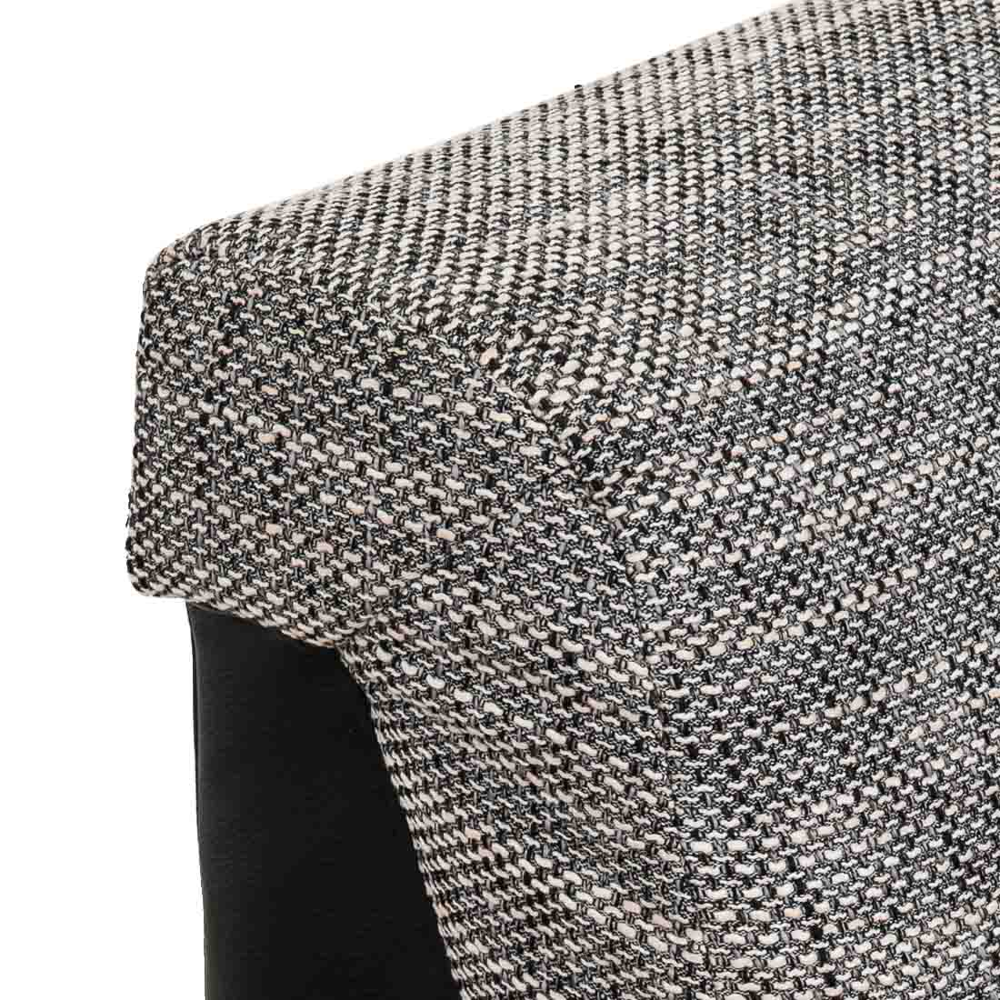 ecksofa stoff schwarz grau ottomane links eckcouch sofa couch couchgarnitur neu ebay. Black Bedroom Furniture Sets. Home Design Ideas