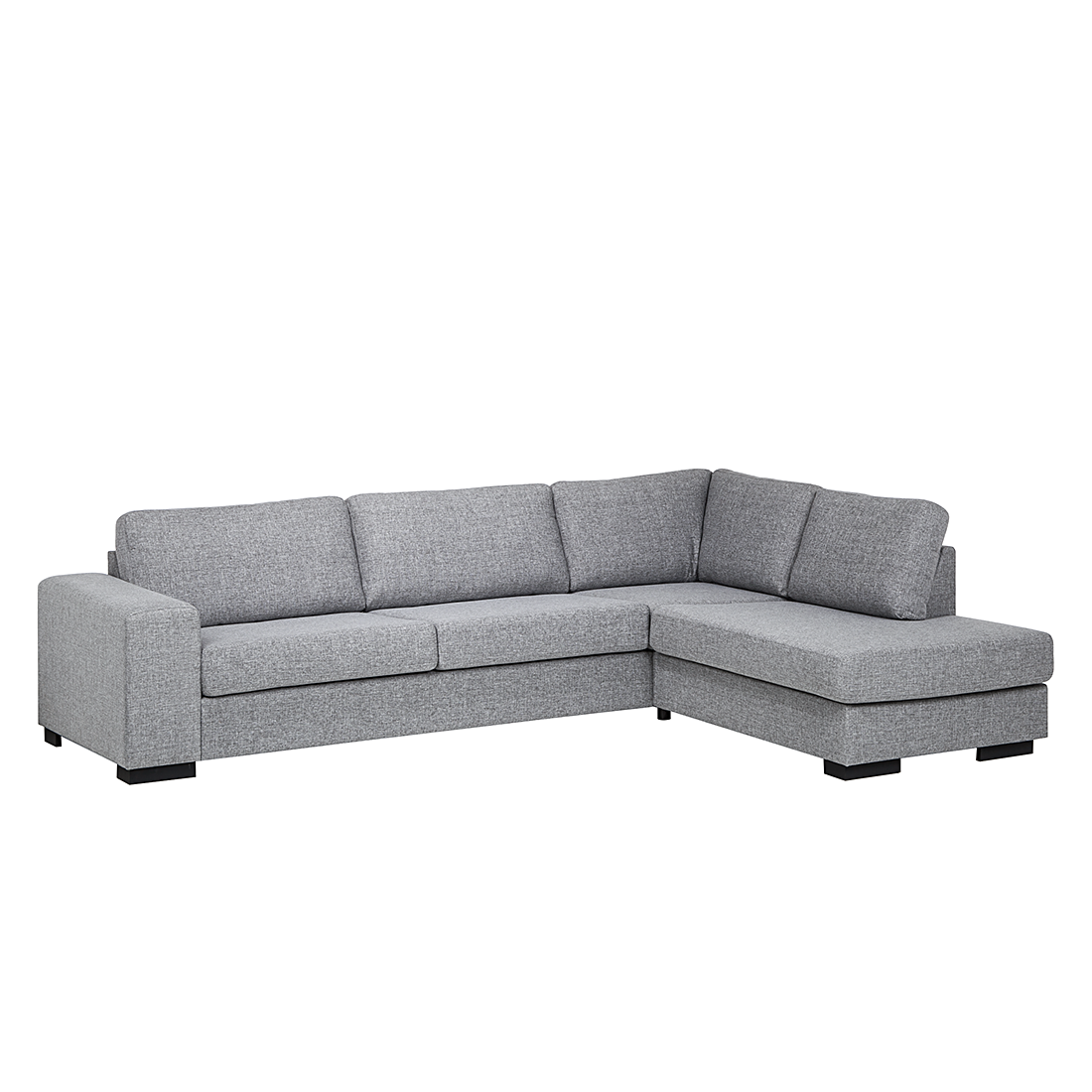 ecksofa strukturstoff grau 3 sitzer sofa couch eckcouch polsterecke neu ebay. Black Bedroom Furniture Sets. Home Design Ideas