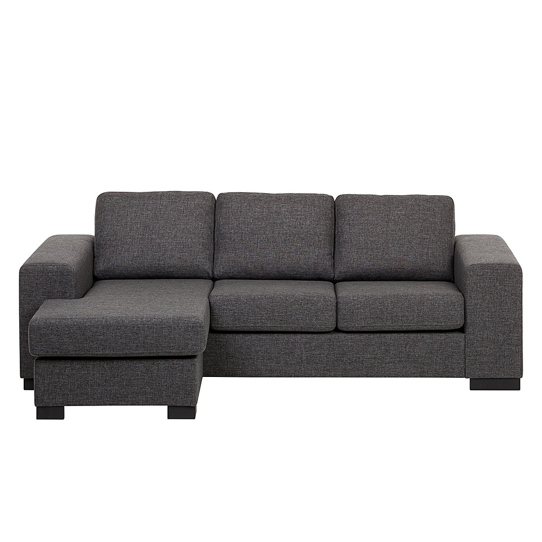 ecksofa strukturstoff grau schlafsofa couch sofa. Black Bedroom Furniture Sets. Home Design Ideas