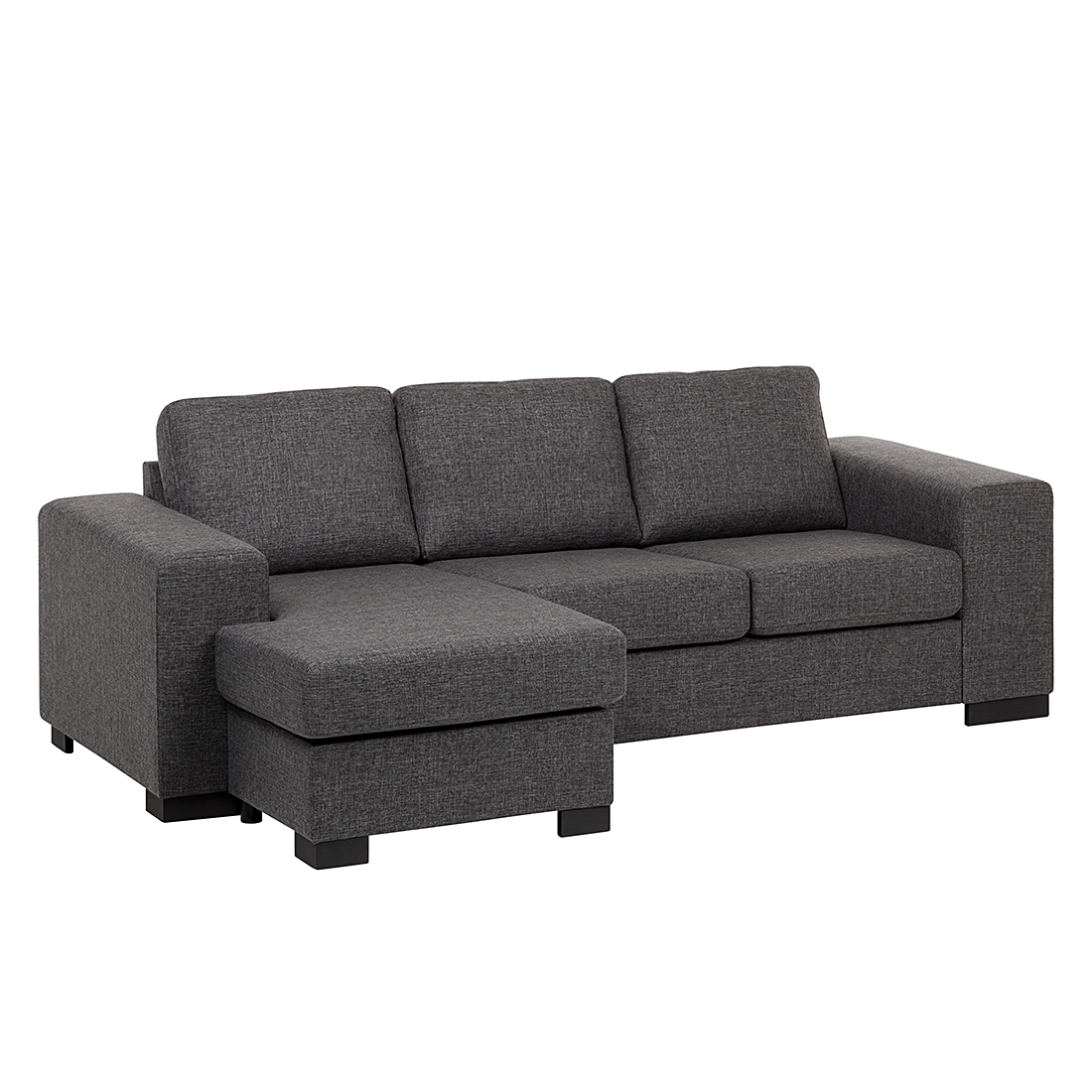 ecksofa strukturstoff grau schlafsofa couch sofa schlafcouch g stecouch neu ebay. Black Bedroom Furniture Sets. Home Design Ideas