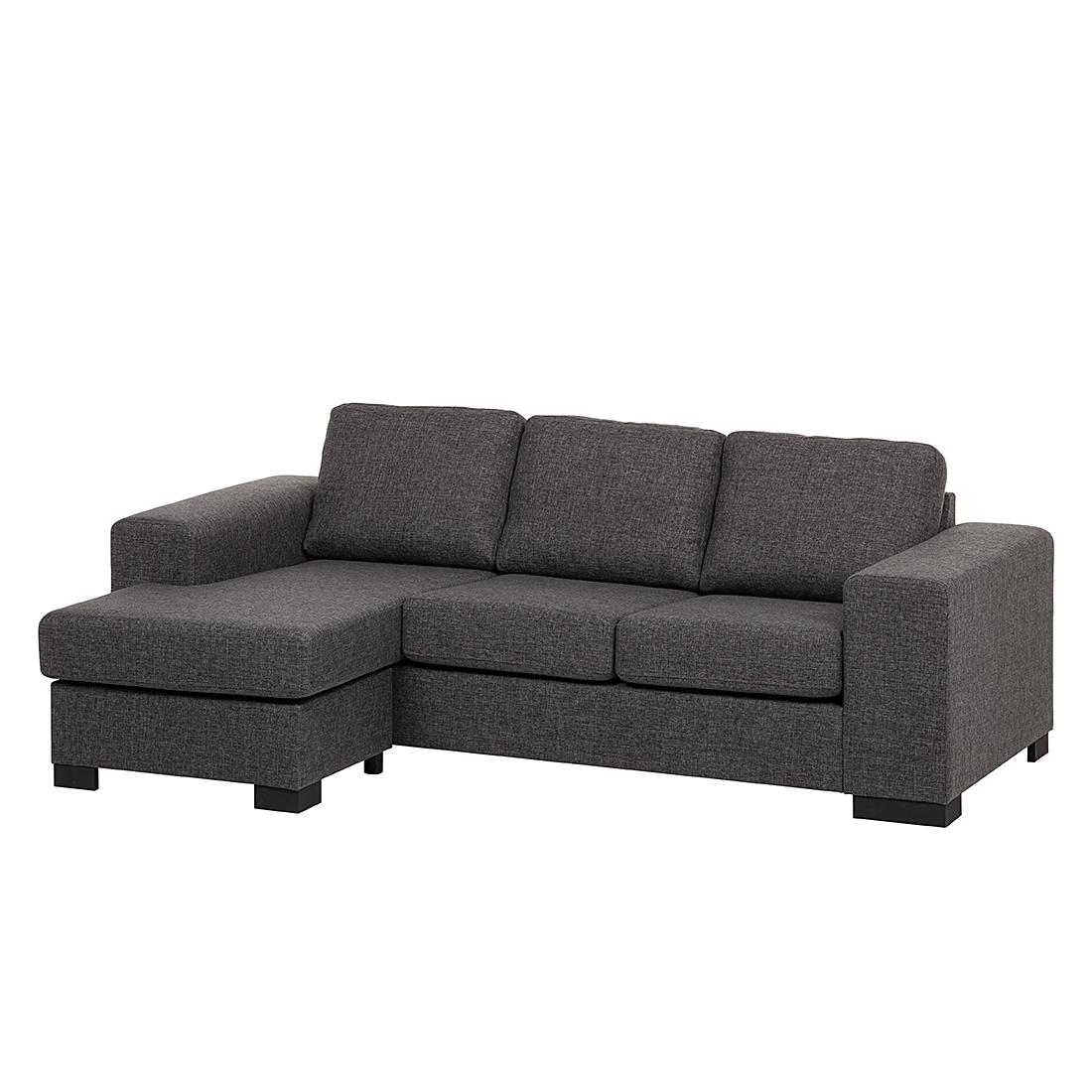 Ecksofa strukturstoff grau schlafsofa couch sofa for Schlafcouch ecksofa