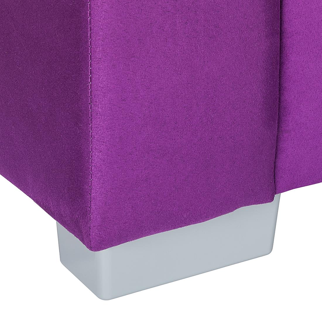 neu ecksofa mit hocker stoff lila wei recamiere rechts. Black Bedroom Furniture Sets. Home Design Ideas