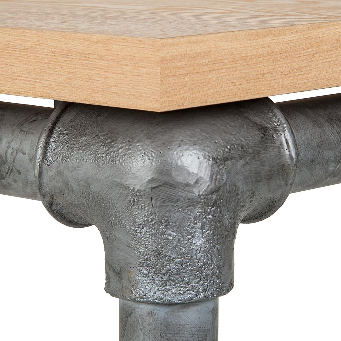 esstisch eiche stahl antik esszimmer holz tisch k chentisch esszimmertisch neu ebay. Black Bedroom Furniture Sets. Home Design Ideas